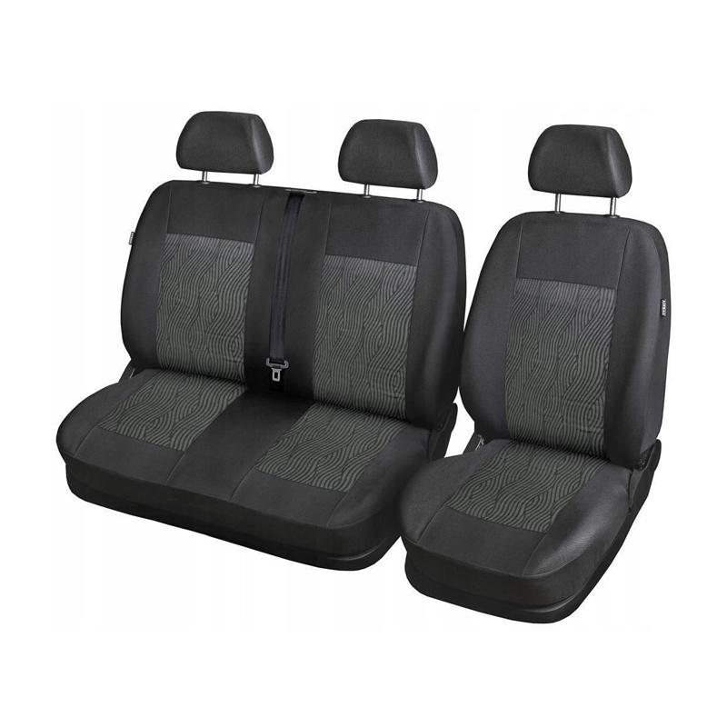 Huse scaune autoutilitara 2+1 RoGroup, Negru 2021 shopu.ro