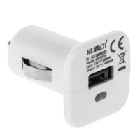 Incarcator Auto Kemot, slot USB, 1 A, alb