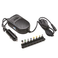 Incarcator auto universal pentru laptop, 80 W, 8 mufe