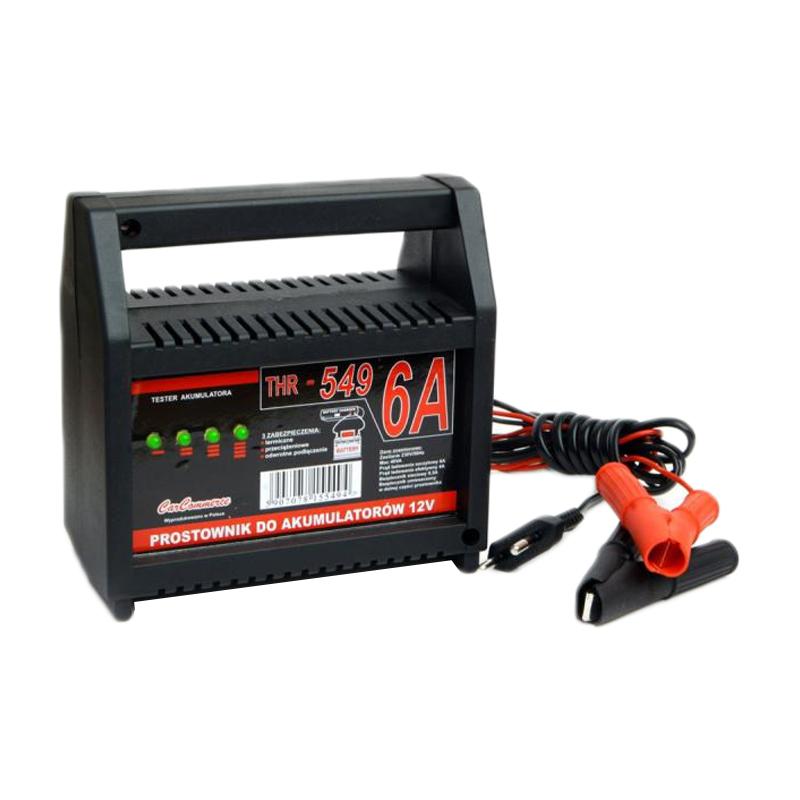 Incarcator pentru baterii auto THR URZ0372, 12V, 6A, protectie termica si la scurtcircuit