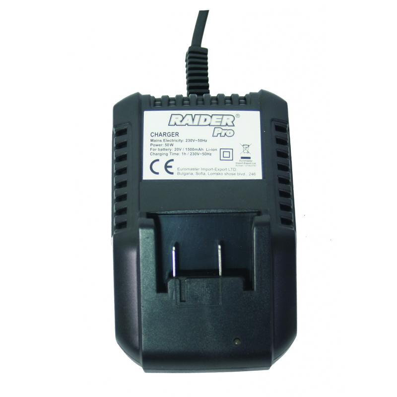 Incarcator pentru bormasina Li-ion RDP-CDL02L, 20 V, 50 W, 1500 mAh, LED shopu.ro