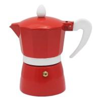 Infuzor pentru cafea Zephyr Z1173L3, aluminiu, 3 cesti, rosu