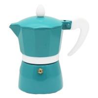 Infuzor pentru cafea Zephyr Z1173L3, aluminiu, 3 cesti, turcoaz