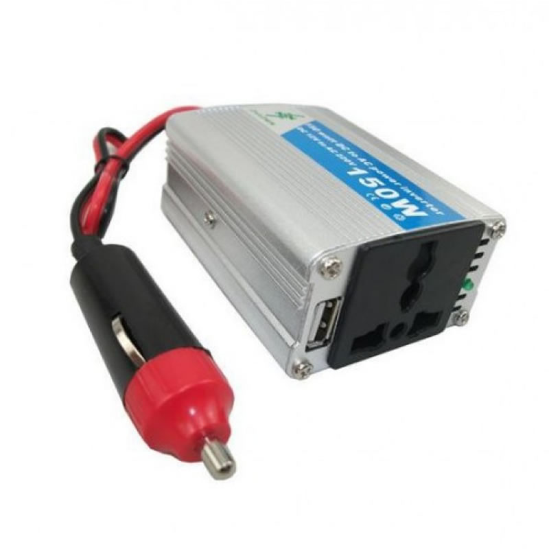 Invertor 12-220 V, putere 150 W, protectie supraincalzire 2021 shopu.ro