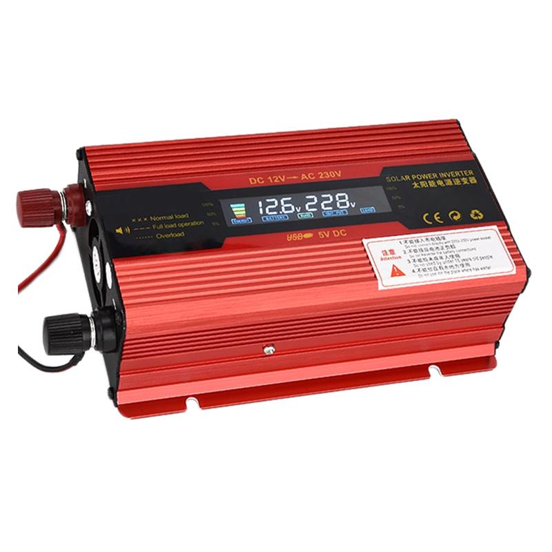 Invertor de tensiune Solar 12-230V, 500 W, display digital 2021 shopu.ro
