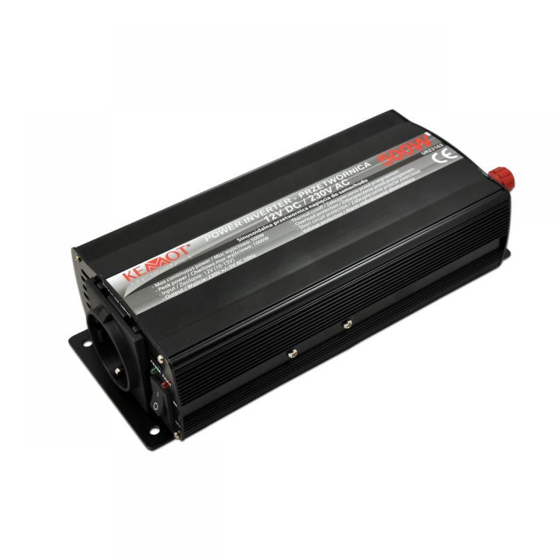 Invertor de tensiune Kemot URZ3162, 12 V, 500 W