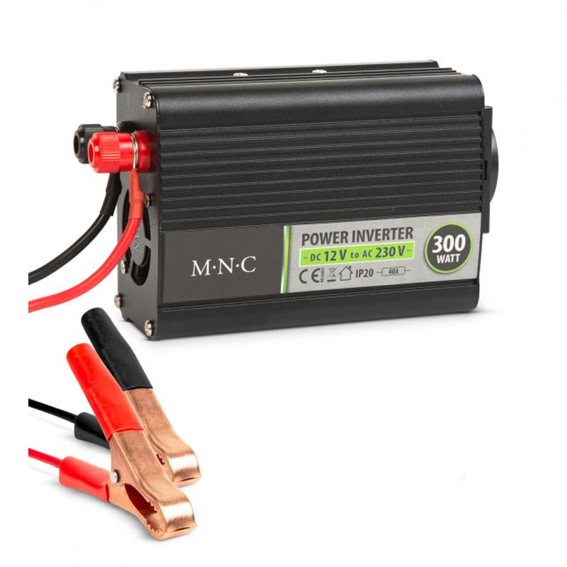 Invertor de tensiune MNC, 12 V/230 V, 300 W, LED, ventilator racire 2021 shopu.ro