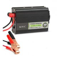 Invertor de tensiune MNC, 12 V/230 V, 300 W, LED, ventilator racire