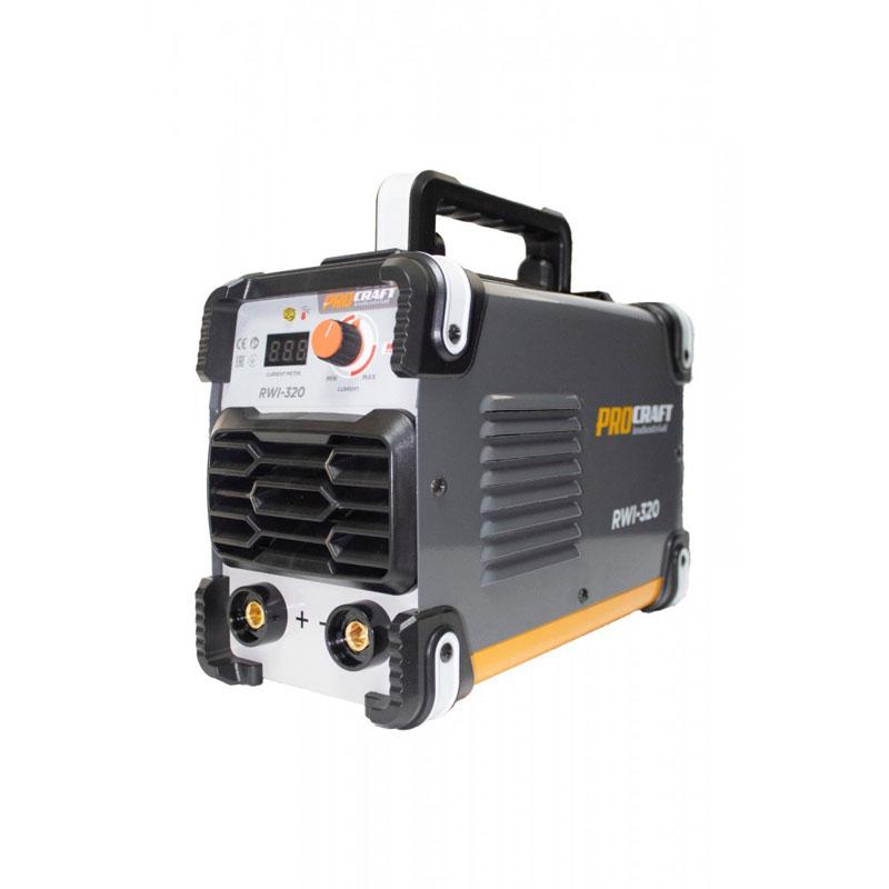 Invertor profesional Procraft RWI 320, 320 A, MMA, electrozi 1.6 mm - 4 mm, hot start, arc force, anti stick, indicator digital, IP 21 2021 shopu.ro