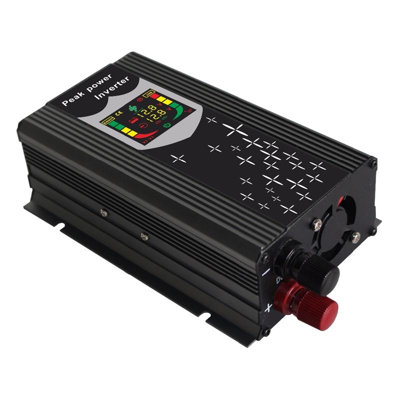 Invertor de tensiune cu display 12-220V, putere 300 W 2021 shopu.ro