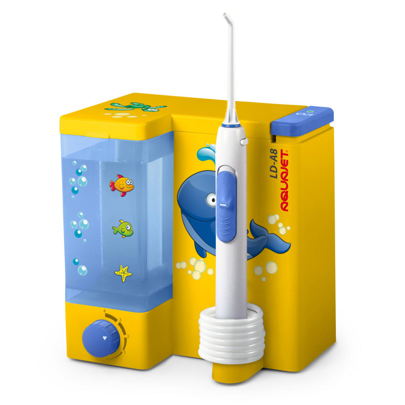 Irigator bucal Little Doctor Aquajet LD A8 pentru adulti, profesional, 1200 impulsuri/min, Galben