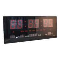 Ceas digital de perete JH3615, LED, Negru