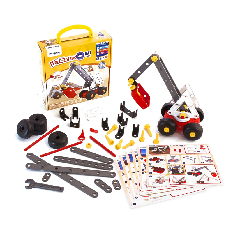 Joc de constructii Activity Mecaniko 81 Miniland, 4 ani+ 2021 shopu.ro
