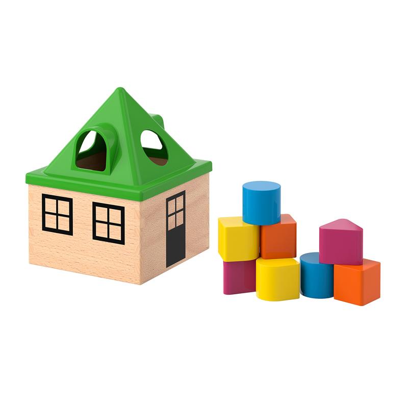 Joc de sortat model casa, 16 x 16 x 21 cm, 6 luni+, Multicolor 2021 shopu.ro