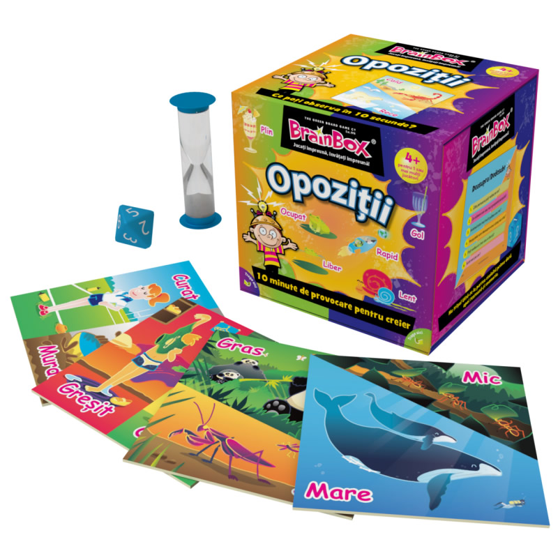 Joc interactiv Opozitii BrainBox, maxim 6 jucatori, varsta 4 ani+ 2021 shopu.ro