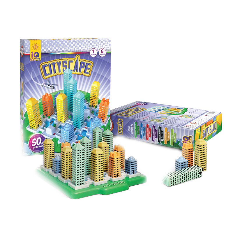 Joc Cityscape IQ Booster, 22 x 26 x 6 cm, 50 provocari, limba romana, 6 ani+ 2021 shopu.ro