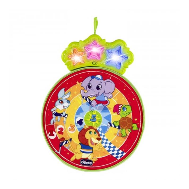 Joc Happy Darts Chicco, 34 x 42.5 x 2.5 cm, 2 x AA, 3 mingi incluse, 18 luni+ 2021 shopu.ro