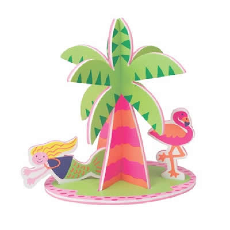 Jucarie de baie Insula Paradisului, 34 piese, 3 ani+