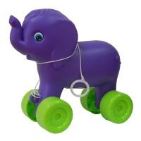 Jucarie de tras pentru copii, elefant, plastic, 23 x 12 x 22 cm
