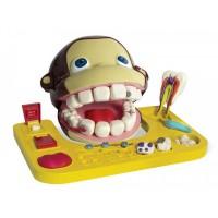 Jucarie educativa Maimutica la dentist Smile Factory, plastilina inclusa, 3 ani+