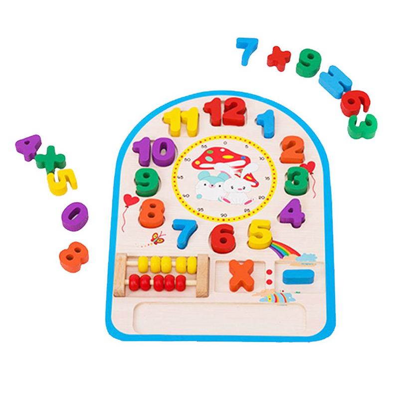 Jucarie educativa tip ceas cu numaratoare, 30 x 20 x 3 cm, 3 ani+