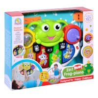 Jucarie interactiva 2 in 1 Frog Piano, melodii si sunete