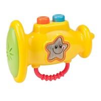 Jucarie pentru bebelusi, 3 butoane, 3 melodii, model trompeta