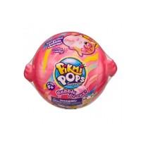 Jucarie antistres Bubble Drops Neon Wild Pikmi Pops, plus, surpriza inclusa, 5 ani+, Roz
