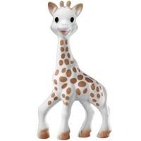 Jucarie pentru dentitie girafa Sophie Vulli, 18 x 10 x 5 cm, saculet inclus, 0 luni+