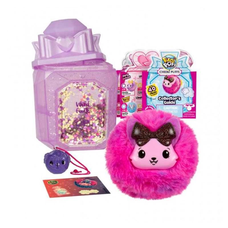 Jucarie parfumata Cheeki Puffs Pikmi Pops, 8 x 7 cm, plus, 5 ani+, model wild funk, Roz 2021 shopu.ro