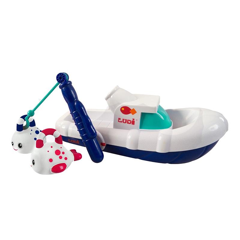 Jucarie pentru baie Barcuta pescuit Ludi, ABS, 18 luni+ 2021 shopu.ro
