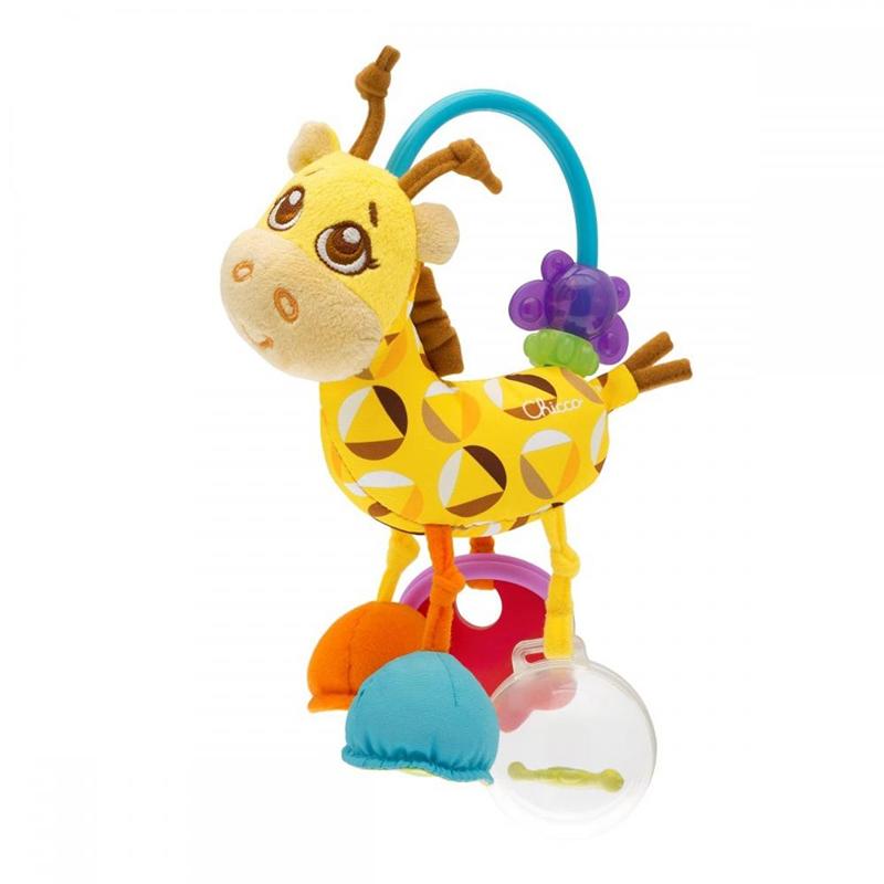 Jucarie zornaitoare Girafa Chicco, plus/plastic, diverse texturi, 3-24 luni, Multicolor 2021 shopu.ro