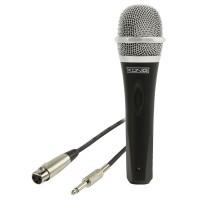 Microfon cu fir Konig, 5 m, jack 6.35 mm, exterior metalic