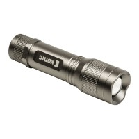 Lanterna LED Konig, 5 W, 3 x AAA, Argintiu