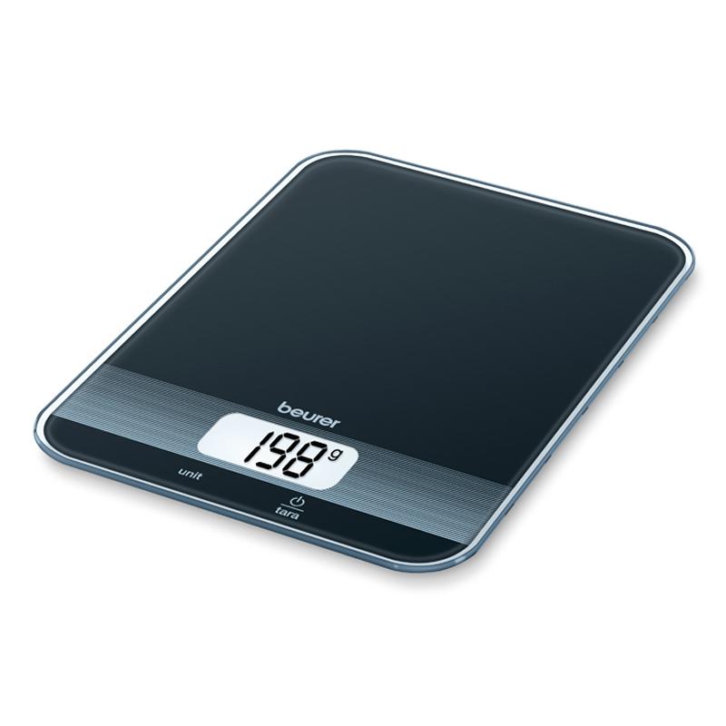 Cantar de bucatarie Beurer KS19 Black, maxim 5 kg, taste senzori 2021 shopu.ro