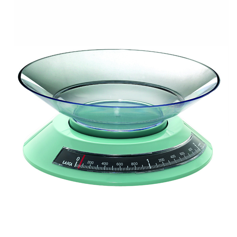 Cantar mecanic de bucatarie cu bol Laica KS2002, 2 kg, Verde