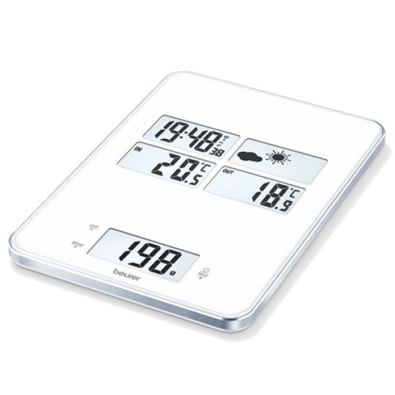 Cantar de bucatarie Beurer, 5 kg, LCD, statie meteo