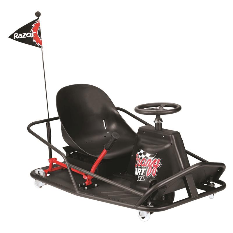 Kart Razor Crazy Cart XL, rotatii la 360 de grade, 2 x 12 V, 20 km/h