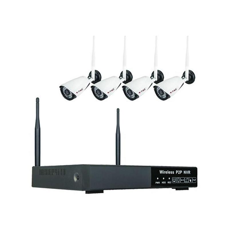 Kit DVR si 4 camere V-Tac, wireless, IP20, rezolutie 1080P