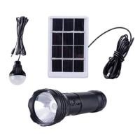Kit Solar cu lanterna LED CL-038, 3 W, bec LED SMD