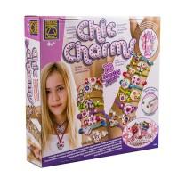 Kit confectionare bratari Chic Charms, 8 ani+