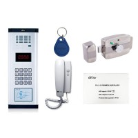 Kit interfon audio economic Genway, pentru 20 apartamente
