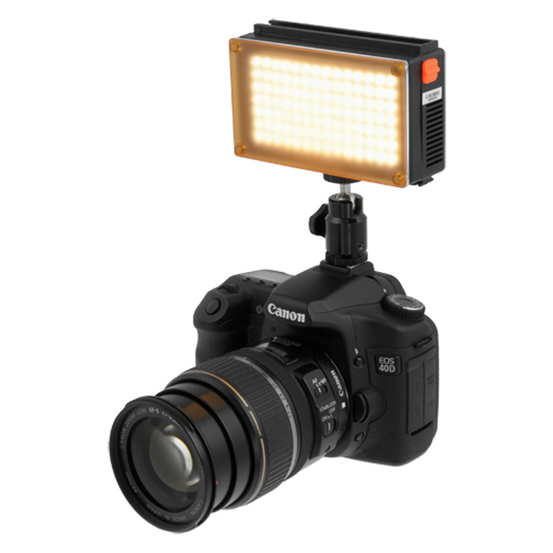 Kit lampa video Fotodiox, 98 LED, acumulator Li-Ion