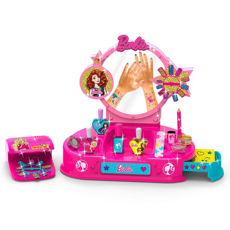 Kit manichiura pentru fetite Barbie Nail Studio, 2 x AA, 3 ani+ 2021 shopu.ro