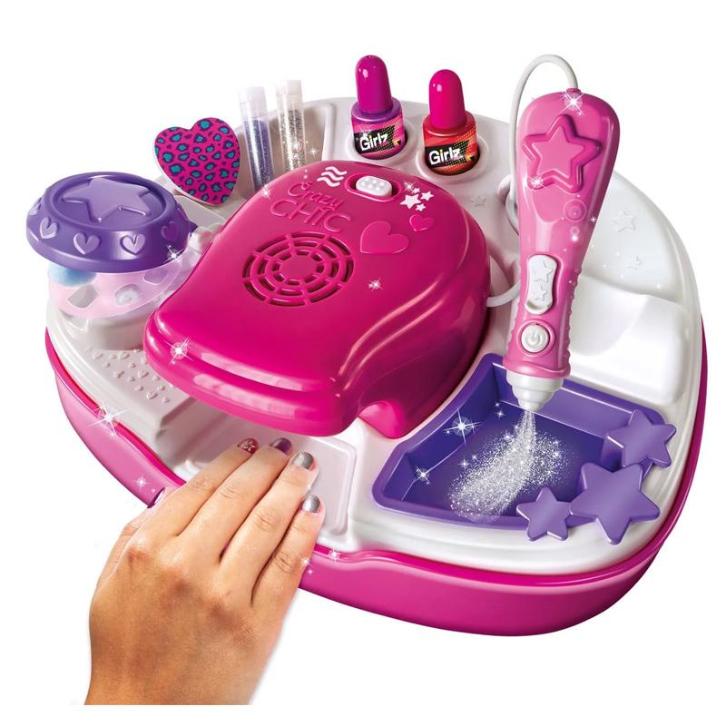 Kit manichiura pentru fetite Girlz Studio, accesorii incluse, 6 ani+ 2021 shopu.ro