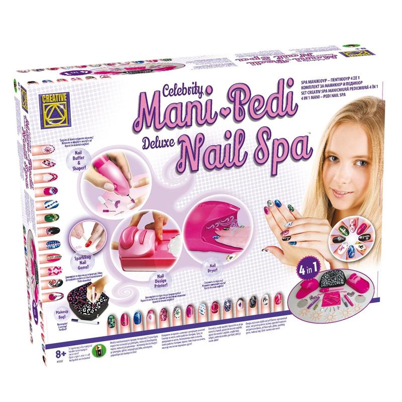 Kit manichiura pentru fetite Mani Pedi Nail Spa, 4 x AA, 8 ani+ 2021 shopu.ro