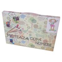 Kit pentru desen Picteaza dupa numere, model fetita blonda