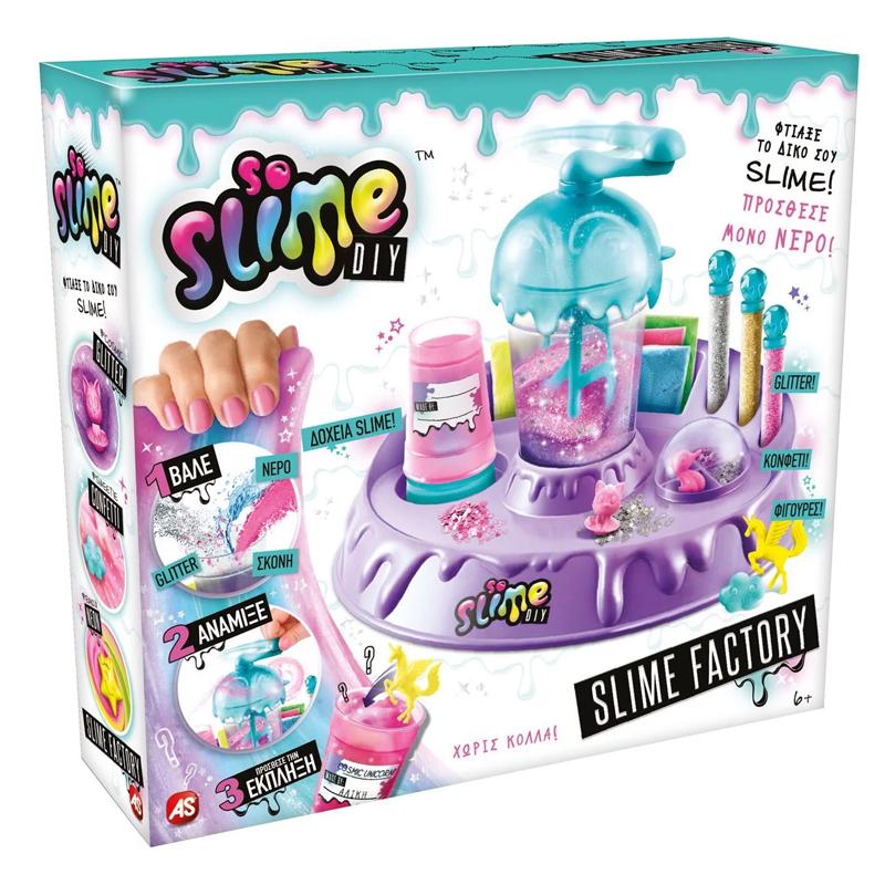 Kit pentru fabricare slime Factory DIY, 10 slime, accesorii incluse