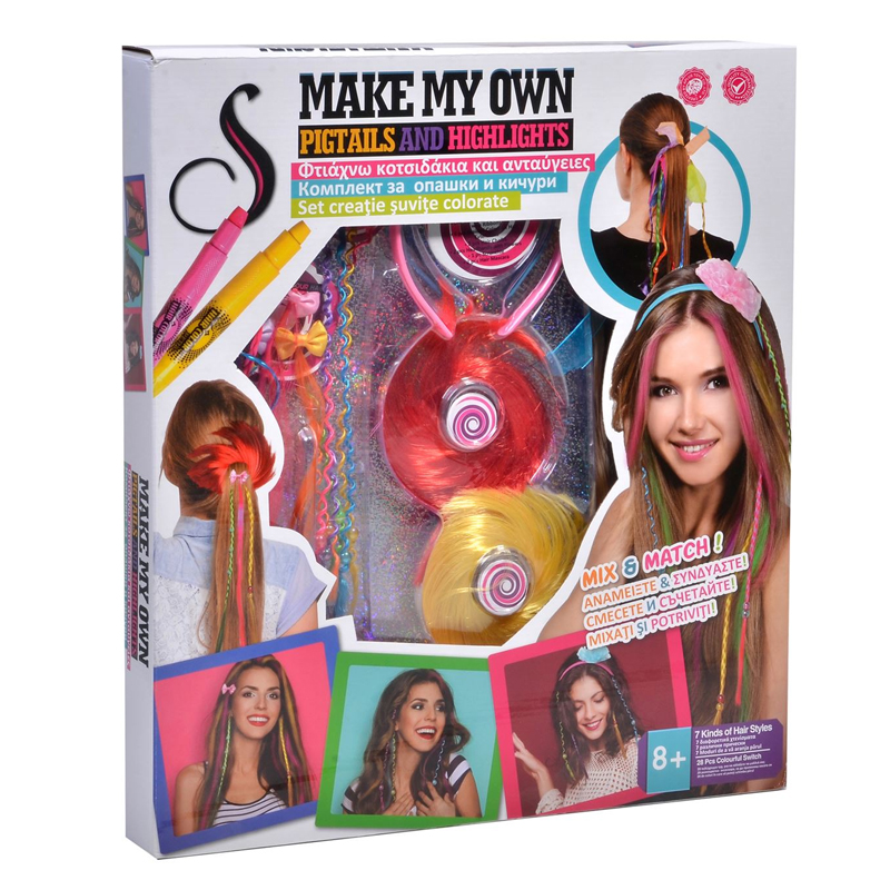 Kit pentru suvite colorate Make My Own, 8 ani+