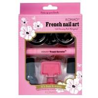 Kit pentru unghii French Nail Art Konad, 8 piese